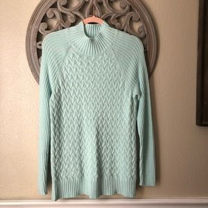 Croft & Barrow  mint chunky cable knit sweater